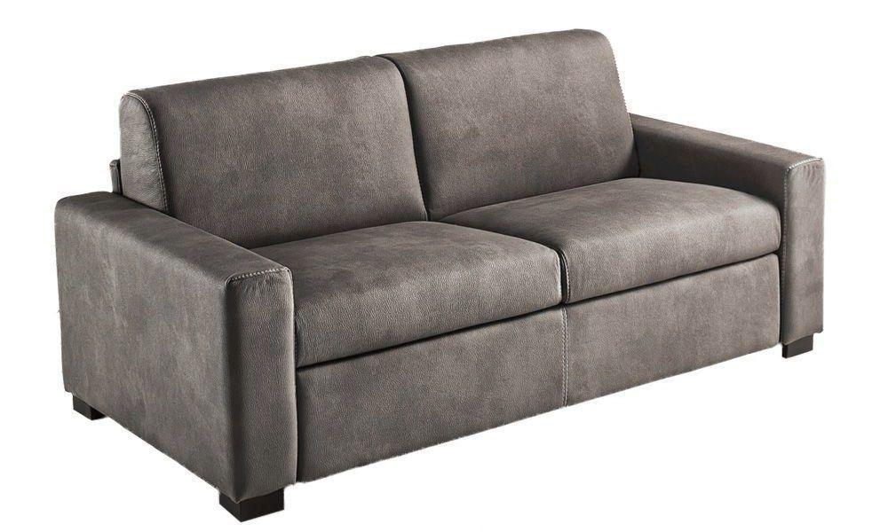 MATHIAS, Convertible pour couchage quotiden 120, 140 ou 160cm. Revêtement Tissu effet CuirTobago ou Largo