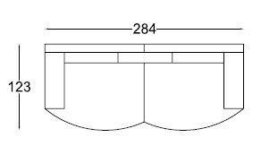 MICHELANGELO bicolore: assise et dossier en tissu chenille NEVADA + accoudoirs et tour de caisse en simili PU
