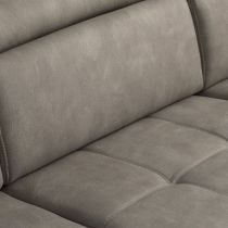 RONALD, Canapé d\'angle convertible gigogne. Revêtement Tissus effet Cuit Tobago ou Largo.