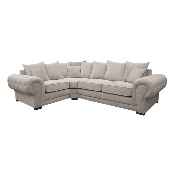 VERONA, Canapé d\'angle gauche ou droite, Revêtement Velours Matrix