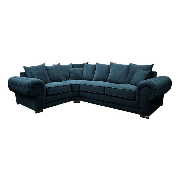 VERONA, Canapé d\'angle gauche ou droite, Revêtement Velours Tiffany