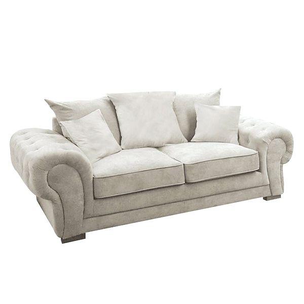 VERONA canapé 2 places,<br>En tissu Matrix,<br>Coussins unis