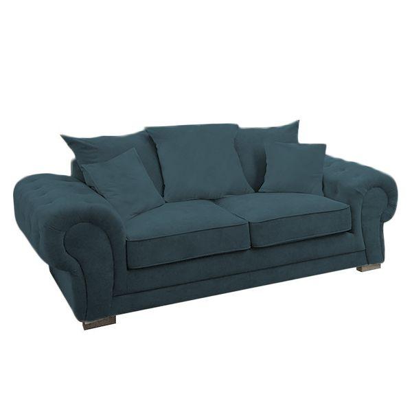 VERONA canapé 2 places,<br>En tissu Tiffany,<br>Coussins unis